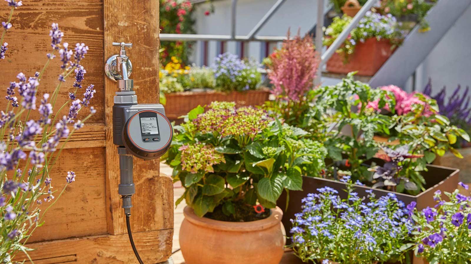 Bewässerung mit Gardena Balkon und Garten