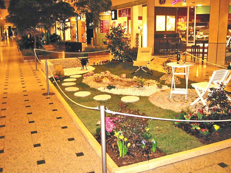 Anlässlich des Grand Prix 2009 gestalteten wir ein kleines Gartenstück im Nova Eventis