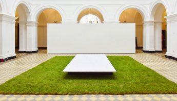 Rollrasen von Rollrasen Schirmer für ein Kunstprojekt an der HGB Leipzig